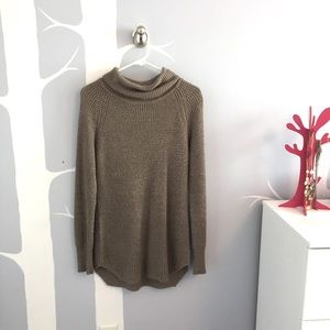 Waffle knit tan sweater from M Boutique